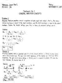 General Amplifier Concept