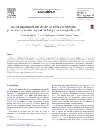 Project management self-effi cacy as a predictor of project performance: Constructing and validating a domain-specifi c scale