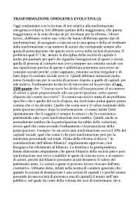 Trasformazione Omogenea Evolutiva (2) - Sbob. Corso Diritto delle Operazioni Straordinarie - Federico II - Napoli - Economia Aziendale