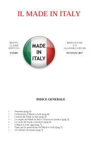 IL MADE IN ITALY-TESINA DI MATURITA' 2016/2017