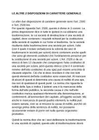 """Disposizioni generali in Materia di """"Trasformazione"""" - Sbob. Corso Diritto delle Operazioni Straordinarie - Federico II - Napoli - Economia Aziendale"""
