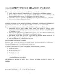 Cotta Ramusino E. - Onetti A. Strategia d'impresa, Il Sole 24 Ore Libri, Milano 4a Edizione, Dispense di Management Theory