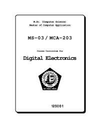 Digital Electronics Course Curriculum
