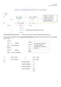 Tema 5: Recominació genètica i lligament