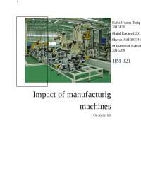 effect of manufacturing machines