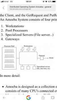 Amoeba operating system