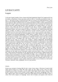 Le Baccanti: analisi e interpretazione