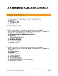 domande patologia vegetale