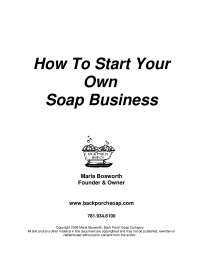 Everything you need to know to start business of soap