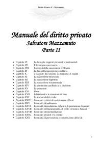 Manuale del diritto privato - Salvatore Mazzamuto - Privato II