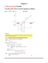 The Bisection Method