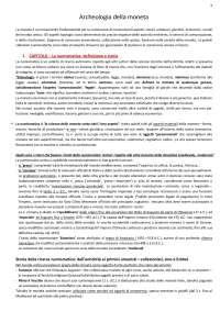 """Riassunto F. Barello """"Archeologia della moneta"""" (2006)"""