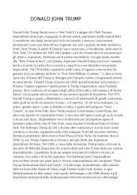 Relazione Donald Trump