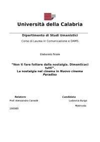 Tesi laurea triennale in comunicazione e dams