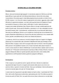 """Riassunto """"Storia della colonna infame"""" di Manzoni"""