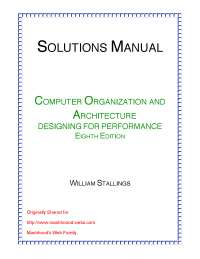 Solution Manual Computer Organization And Architecture 8th Edition.pdf