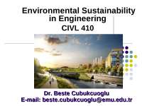 The importance of sustainability in engineering