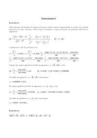 Esercizi Econometria (soluzione esercizi)