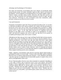 Advantages and disadvantages of Privatization