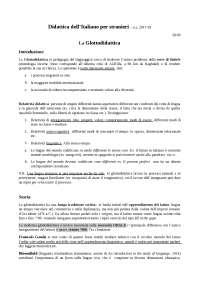 Didattica dell'italiano per stranieri - Della Putta 2017, Appunti di Didattica generale e speciale