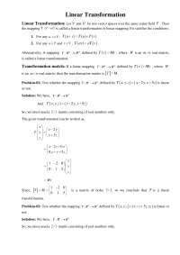 Linear transformation, Exercises for Mathematics