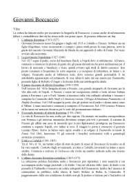 Giovanni Boccaccio vita e opere
