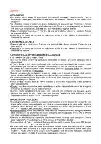 Riassunto esame Teoria e Prassi della traduzione, prof. Laurenti