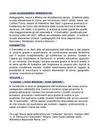 vita e opere di Parravicini, Esercizi di Pedagogia dell'infanzia e pratiche narrative
