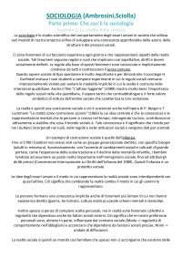"""Riassunto di """"Sociologia"""" (Ambrosini, Sciolla)"""