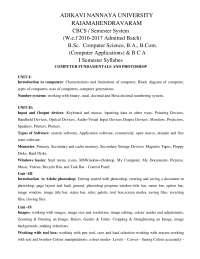Bsc computer syllabus