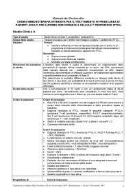 Sinossi Protocollo Protocolli di ricerca