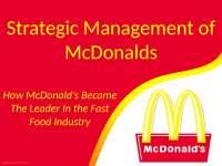 Strategic Management of McDonalds
