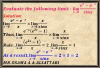 Limit of trigonometric and exponential functions