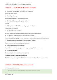 TEST AUTOVALUTAZIONE ANTROPOLOGIA UNIPEGASO 24 CFU