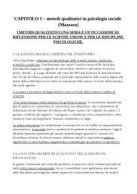 Riassunto dispensa del professore Montali per il corso di Metodologie Qualitative