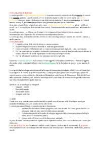Istituzioni di sociologia 1°parte - UNICATT Milano