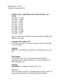 Инфляция России по годам с приведенными данными с сайта