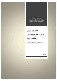 D internacional privado