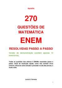Apostila demo. estudantes, Notas de estudo de Matemática