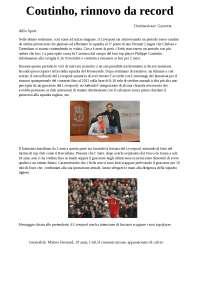 Articolo giornale sportivo