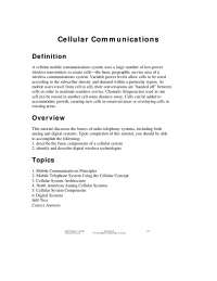 CELLULAR COMMUNICATIONS FOR CSE STUDENTS