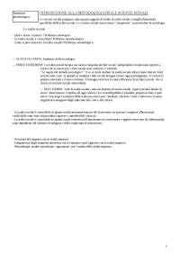 Appunti di Metodologia delle Scienze Sociali