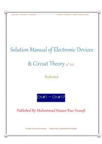 Electronics Devices Circuit Theory 9th Ed Solution Manual - Boylestad