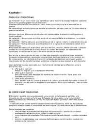 traducciòn y traductología