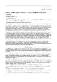 Getting and Giving Information: Analysis of a Family-Interview Strategy