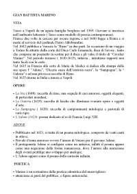vita e opere di G.Marino e G. Bruno