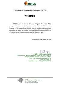 Declaração de Avaliador na UERGS - Rogerio Fernandes Brito, Notas de estudo de Engenharia Mecânica