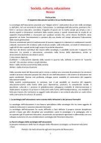 """RIASSUNTO COMPLETO """"SOCIETA', CULTURA, EDUCAZIONE"""" BESOZZI"""
