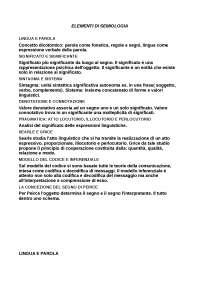 Semiologia - Elementi di Semiologia