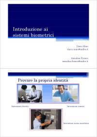 Introduzione ai sistemi biometrici